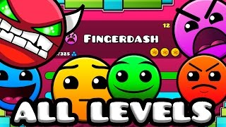Download Geometry Dash 2.1 - All Levels 1-21 100% Complete [Latest Coins] Video