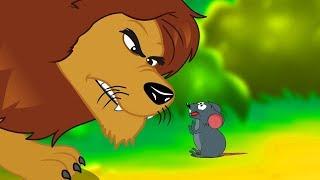 Download Le Lion et Le Rat | Fable de La Fontaine | dessin animé en français avec les P'tits z'Amis Video