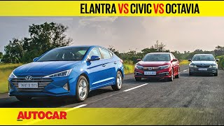 Download Hyundai Elantra facelift vs Honda Civic vs Skoda Octavia   Comparison Test   Autocar India Video