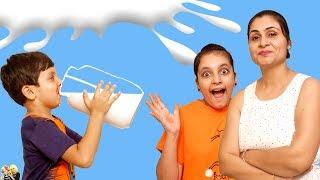 Download MORAL STORY FOR KIDS   DOODH   MILK CHALLENGE   #Fun #Kids #Bloopers Aayu and Pihu Show Video
