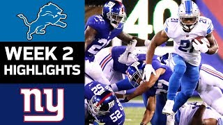 Download Lions vs. Giants | NFL Week 2 Game Highlights Video