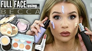 Download FULL FACE Using ONLY BECCA COSMETICS! Worth it OR Toss it?! Video