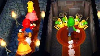 Download Mario Party 9 - Minigames - Mario vs Luigi vs Peach vs Daisy (Master CPU) #1 Video