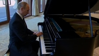 Download Putin Shows Off Musical Talent on Piano in China Video