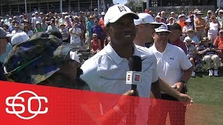 Download Michael Collins catches up with Tiger Woods at Caddie 17th Hole Competition | SportsCenter | ESPN Video