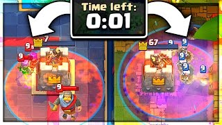 Download 1 SECOND LEFT... AND? Clash Royale Insane Close Calls Video