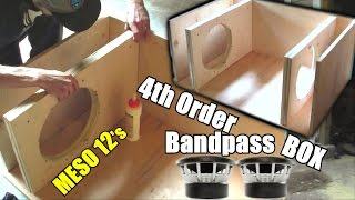 Download Building a Bandpass Subwoofer Box | 4th Order Sub Enclosure Build / 2:1 Ratio / 2 Sealed 4 Ported Video