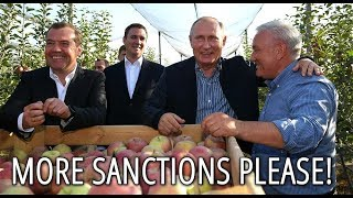 Download Putin Jokes With Farmers: We Can Defend Ourselves With The Russian Big Apples Video