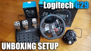 Download Unboxing and setup of a Logitech G29 steering wheel for a PS3/PS4/PC Video