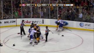 Download Bruins-Habs line brawl and more 4/9/09 [HD] Video