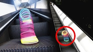 Download What Happens When You Put a Slinky on an Escalator Video