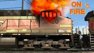 Download Fire in the BNSF train cabin (Simulation) Video