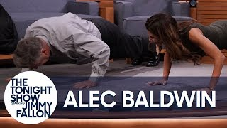 Download Alec Baldwin Challenges His Wife to a Push-Up Contest Video