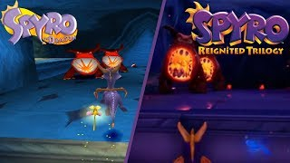 Download Spyro Reignited Trilogy - DARK PASSAGE GAMEPLAY COMPARISON! FULL LEVEL PS4 VS PS1 GRAPHICS! Video