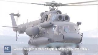 Download Russia's ″Arctic″ Mi-8 helicopter makes first public flight Video