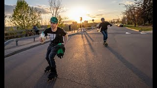 Download Inline skating (rollerblading) team skating Video