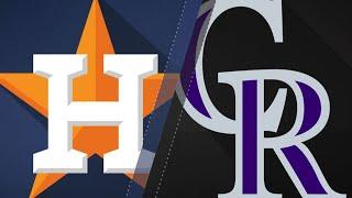 Download Blackmon's walk-off HR helps Rox top Astros: 7/25/18 Video
