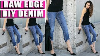 Download RiPPed, RaW HEM! FRAYED Denim JEANS! Quickest WAY!!! Video