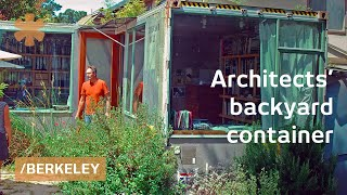 Download $1800 used shipping container as architects' backyard office Video