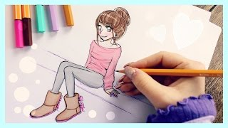 Download ❤ Drawing Tutorial - How to draw a Girl with UGGS ❤ Video