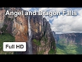 Download Angel and Dragon Falls, Venezuela — Video
