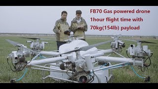 Download 70kg gas powered drone agriculture sprayer crop dusting drone Video