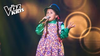 Download La Carranguerita canta La Gallina Mellicera - Audiciones a ciegas | La Voz Kids Colombia 2018 Video
