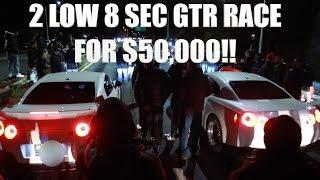 Download 2 LOW 8 SECOND Nissan R35 GTR RACE FOR $50,000 POT! Video