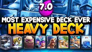 Download 7.0 ELIXIR! Most EXPENSIVE DECK EVER Gets 12 WINS! Video