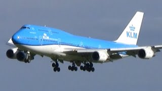Download Heavy planes landing in beautiful evening light at Amsterdam airport Schiphol Video