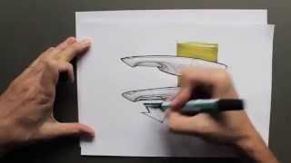 Download product design rendering and sketching by product tank Video