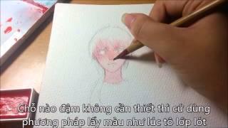 Download tutorial watercolor anime skin Video