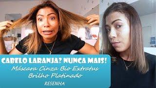 Download Cabelo Laranja? Nunca mais!! Máscara Cinza Bio Extratus - Brilho Platinado Video