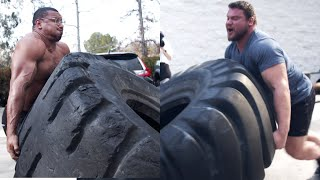 Download FIRST TIME FLIPPING TIRES LARRYWHEELS 1100LB TIRE Video