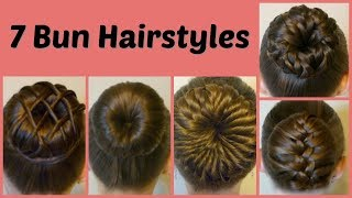 Download 7 Ways To Make A Bun Using A Hair Donut Compilation! 1 Week Of Bun Hairstyles Video
