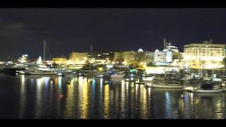 Download Night 4K Drone Footage of Victoria Parliament and Harbour Video