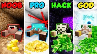 Download Minecraft NOOB vs. PRO vs. HACKER vs. GOD: BANK ROBBERY in Minecraft! (Animation) Video