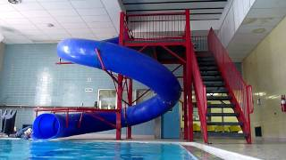 Download 3yo William going down the YMCA pool slide Video
