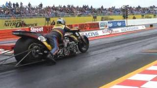 Download Quarter finals top fuel bike Hockenheim: Koedam 6.1sec!!! Video
