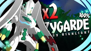 Download DOUBLE SOS SHINY! 2 SHINY ZYGARDE 100%! - Pokémon Sun & Moon Shiny Highlight (Hacked Shiny Hunting) Video
