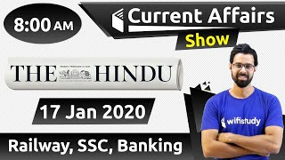 Download 8:00 AM - Daily Current Affairs 2020 by Bhunesh Sir | 17 January 2020 | wifistudy Video