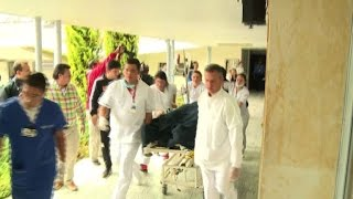 Download Survivors of the Colombia plane crash taken to hospital Video