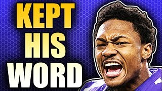 Download Stefon Diggs' Emotional Response To His New Contract Video