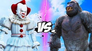 Download KING KONG vs PENNYWISE (IT) - Epic Battle Video