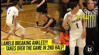 Download LaMelo Ball BREAKS Defender's ANKLES & Talks TRASH To Crowd!! Wins MVP Of Tournament In STYLE! Video