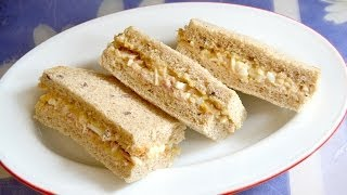Download Tuna and egg salad Sandwich Video