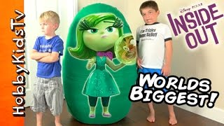 Download Worlds BIGGEST DISGUST Surprise Egg! Inside Out Toys Disney + Uggly Dogs by HobbyKidsTV Video