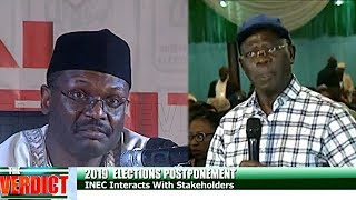 Download Oshiomhole Questions Timing Of Postponement, As INEC Chairman Regrets Decision Video