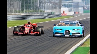 Download Bugatti Chiron vs Ferrari F1 2018 - Monza Video
