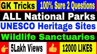 Download Tricks to Remember National Parks and Wildlife sanctuaries Video